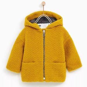 Zara | Baby Girl Mustard Yellow Coat Jacket